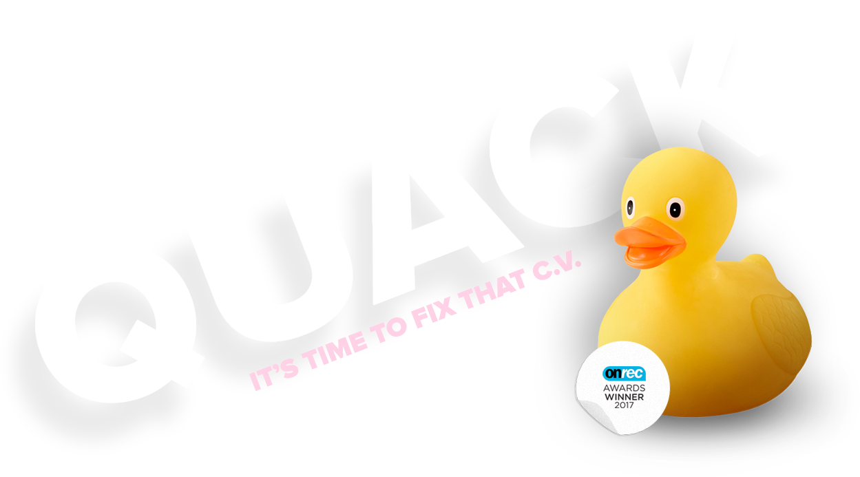 Cut the Quack, it's time to fix that C.V.